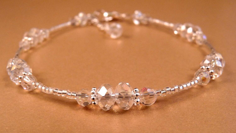 Crystal Ankle Bracelet Crystal Anklet Beaded by ...