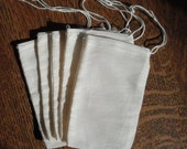 Muslin Drawstring Bags WHOLESALE  150 Natural 3x5 for Sachets, Potpourri, Decorating, Crafts, Stamping, Gift, Rustic, Country Wedding Bag