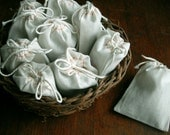 "Wedding Toss or Favor Bags 150  FRAGRANT LAVENDER Filled  3 x 4"" Natural Cotton Muslin Drawstring Bags for Wedding, Shower, Sachet, Gift,..."