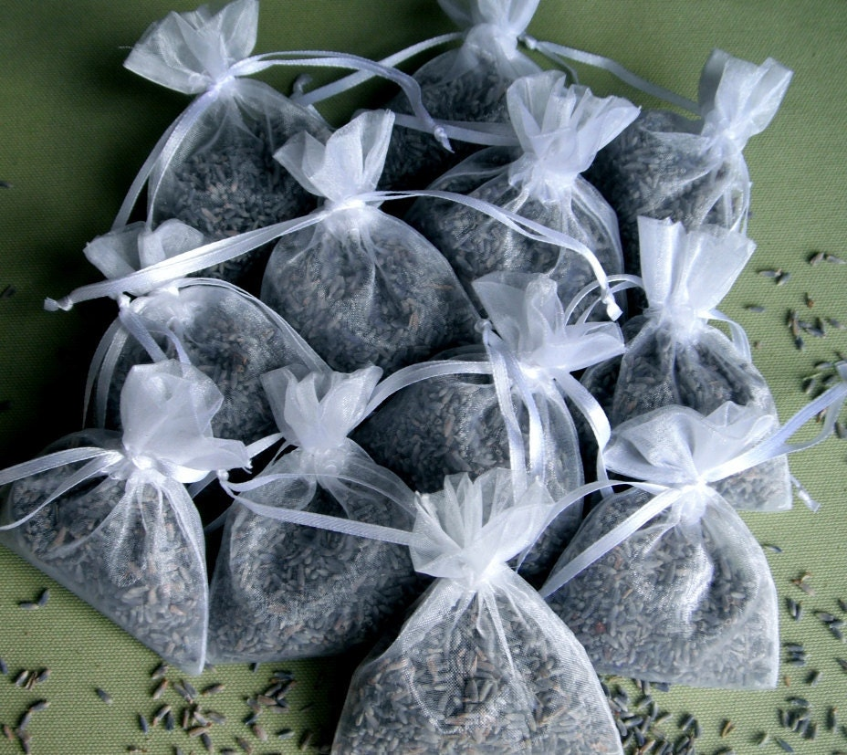 Lavender Wedding Toss: Wedding Toss Bags 80 FRAGRANT LAVENDER Flower Buds Filled 3 X