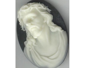 40x30 resin jesus cameo christian cameo religious cameo black ivory cabochon diety god reliqious charm church supply 694Q