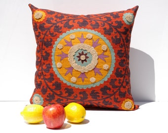 Suzani 3Park 16x16 Tribal Print Pillow Cover