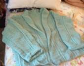 Sea Foam Cabled Plus size sweater