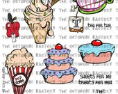 INSTANT DOWNLOAD Treat Shoppe Digital Collage Sheet