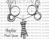 INSTANT DOWNLOAD Sophie Queen Mod digital stamp image