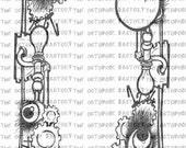 INSTANT DOWNLOAD Steampunk Frame Digital Stamp