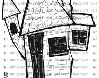 INSTANT DOWNLOAD FairyTale House Digital Stamp Image