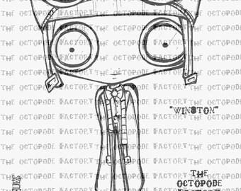 INSTANT DOWNLOAD Steampunk Nipper Winston digital stamp