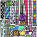 INSTANT DOWNLOAD Zetti Border Strips Digital Collage Sheet