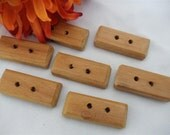 Wooden buttons, toggle button, handmade, buttons, wood, toggle, Mahogany, button Set of 6 buttons