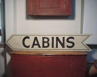 "Rustic/Adirondack ""CABINS"" Sign"
