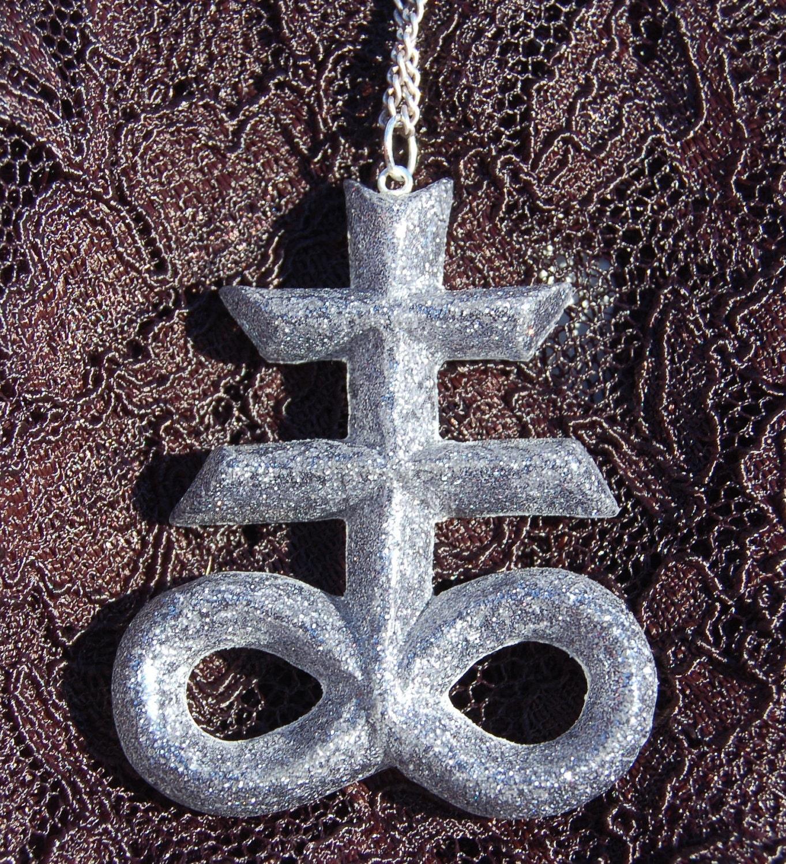 King Diamond Brimstone Satanic Cross Pendant Necklace In