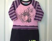 SUPER SALE... 18M Pink Rocker Long Sleeve ooak UPcycled Dress