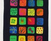 Phonome - original watercolor painting - bacteria