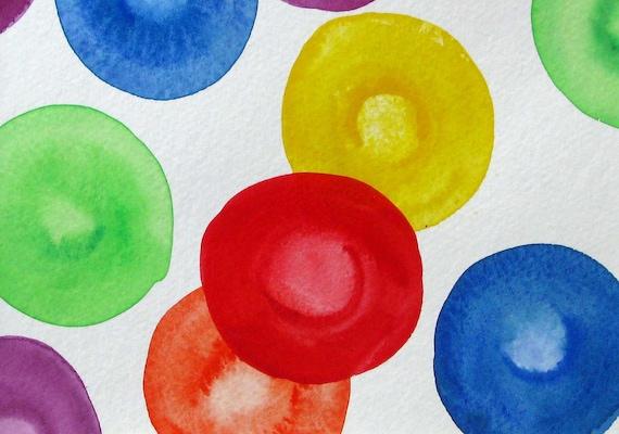 Unicorn Blood Cells 2 - original watercolor painting