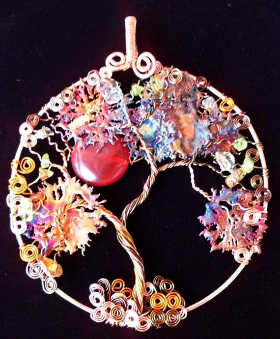 Tree of Life Suncatcher with Copper Slash