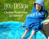 Personalized Hooded Towel Bath Towel Beach Towel - DESIGN YOUR OWN - For baby toddler boy girl