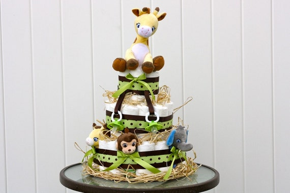 Safari Diaper Cake Safari Diaper Cake 3 Tier
