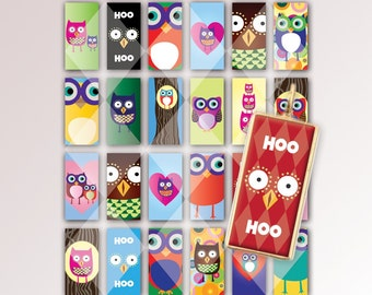 Digital Owls Friends 1x2 Collage Sheet-24 Beautiful images-Download and Print
