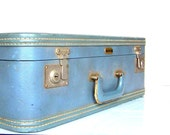 Vintage Oshkosh Suitcase (ON SALE) That's so Worn it Surpassed Grungy and is Now Awesome