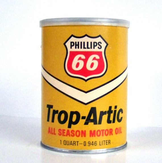 Vintage can puzzle phillips 66 trop artic oil can 2 sided for How to get motor oil out of jeans