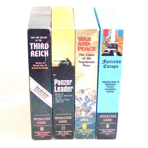 Vintage War Bookcase Games from Avalon Hill Game Company REDUCED