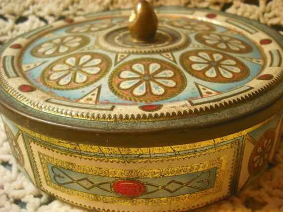 Vintage art deco tin container made in belgium early - Deco vintage belgique ...