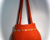 The Betty - felted hand knit purse