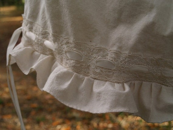Organic muslin Knee-length  button up bloomers- fitted at waistline- custom to your measurements