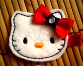 Felt Kitty Hair Clip With Bow