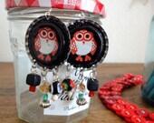 Owl Be Your Bottle Cap Earrings
