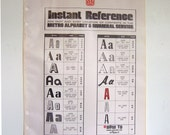 Large Vintage Typography Index Poster - A page of typography from a newspaper advertising service book - TheeLetterQ