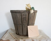Vintage Orchard Basket- Card Basket For Rustic Outdoor Wedding / Party - Home Decor - Waste Basket /Trash Can - HJH Co 1966