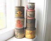 Vintage / Antique Paint Cans - Hardware Store Instant Collection - Use for a Bookend or Paperweights