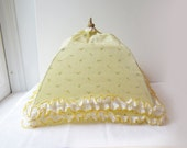 Vintage Food Tents - Sweet Yellow Floral Fabric - Outdoor Entertaining - Wedding - Picnic
