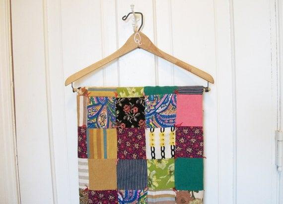 RESERVED for mikeneco - Vintage Boho Patchwork Lap Quilt