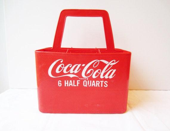 Vintage Red Plastic Coca-Cola Coke 6 Pack Carrier