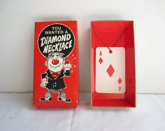 Vintage Diamond Necklace Gag Gift