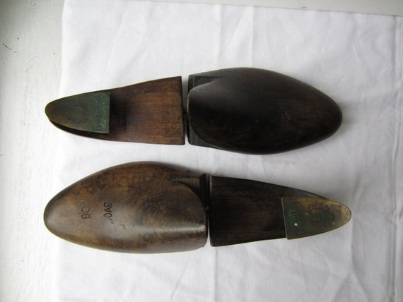 Vintage Shoe Forms Bostonian Wood & Brass