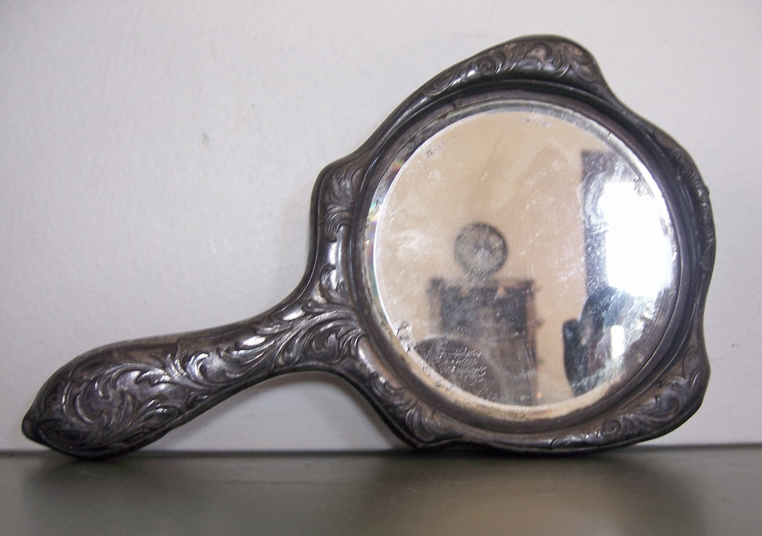 Antique Silver Hand Mirror from Victor Silver Co 1906  Antique Silver ...