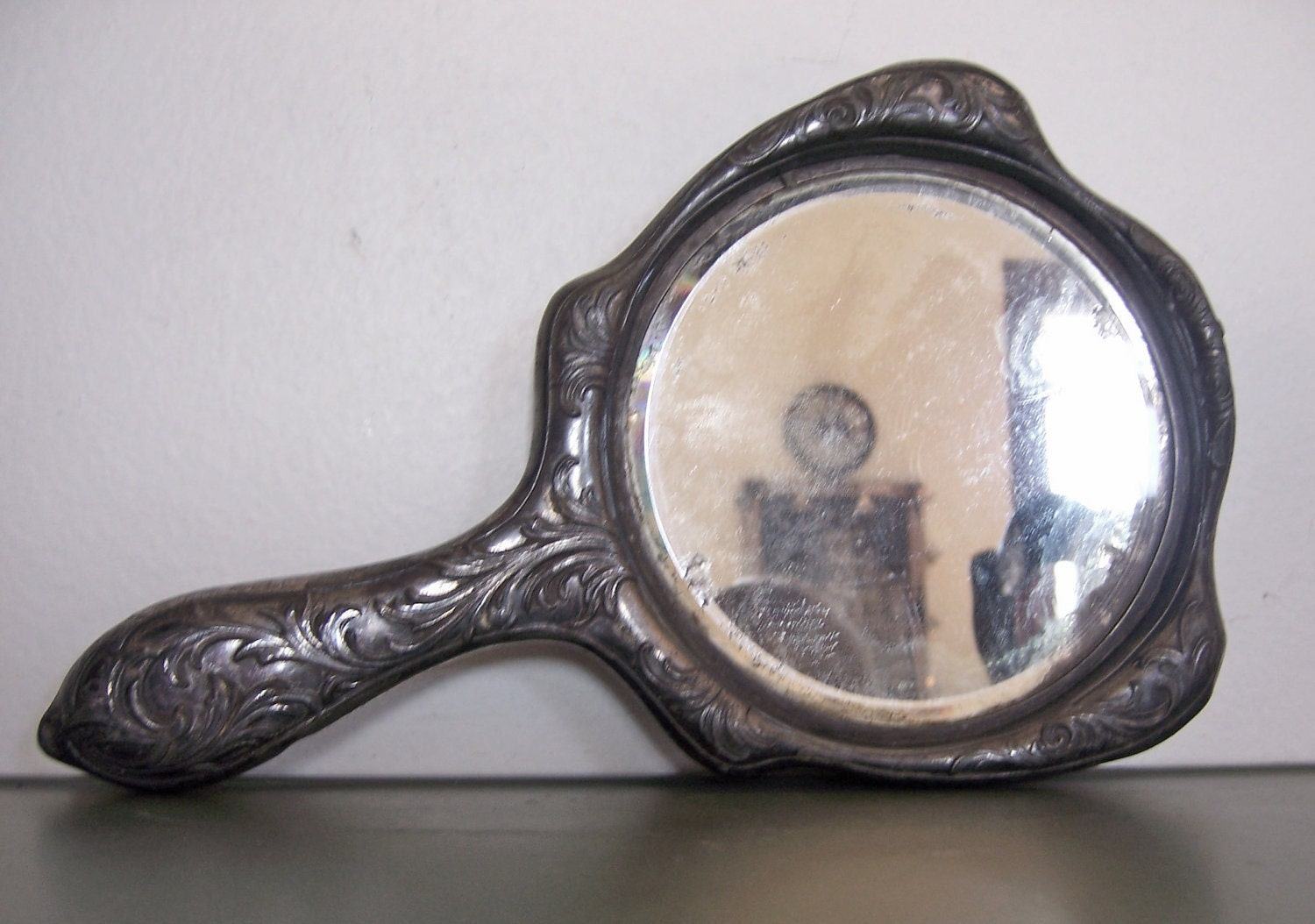 Antique Silver Hand Mirror from Victor Silver Co 1906