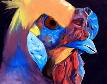 "Oil on canvas, 30""x40"", ""Elton"""