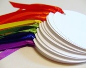 SALE Rainbow Party - Set of 12 Gift Tags