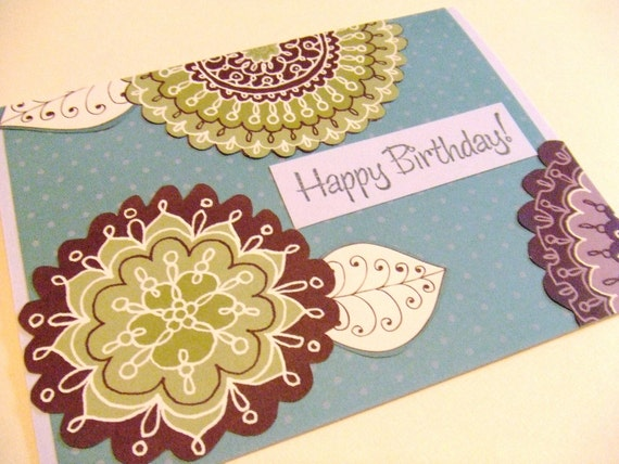SALE Fresh Garden Blooms - Birthday Card