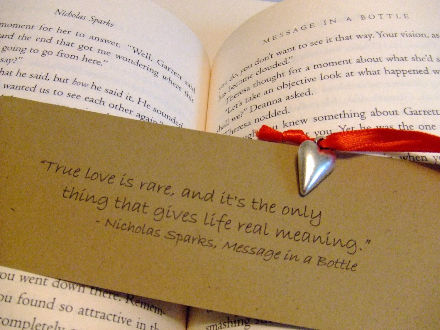 True Love Nicholas Sparks Quote Bookmark Message In A