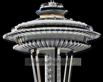 Seattle's Space Needle - 8X12 Black and White Fine Art Print - Seattle Washington Photography
