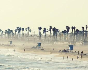 Huntington Beach California 8x12 Photo - Summer Day at the Beach