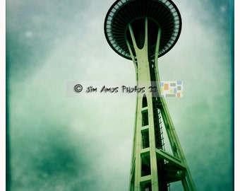 Space Needle - 12x12 Photo of Seattle's famous landmark the Space Needle