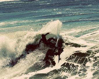 California Surfing - Summer Dream - 8x12 Surf photo cool tones, Huntington Beach, surf photo, surfing photography, wall art, beach decor