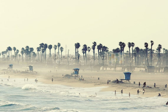 Huntington Beach California 8x12 Photo - Summer Day at the Beach
